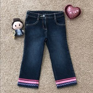 GYMBOREE Straight Jeans Ribbon Accent Adjustable